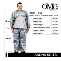 Baju Sauna Suit Jaket Celana Pakaian Olahraga OMG XXL