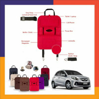 tas jok mobil multifungsi car Set Organizer Honda BRIO Satya Merah