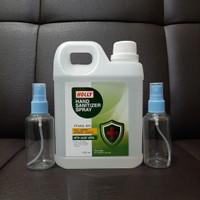 Hand Sanitizer Holly 1000ml + 2 btl kosong spray 75ml