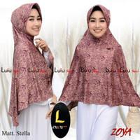 Lulu Hijab Zoya Batik dan Polos / Kerudung batik