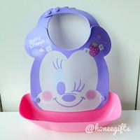 Baby bibs slabber celemek makan bayi disney mickey minnie pooh silikon