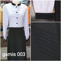 gamis dinas hitam putih seragam dinas ASN baju kantor seragam PNS