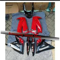Fairing fullset ninja rr new merah batik body belakang original
