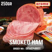 AROMA Pork Smoked Ham 250gr 1/4kg Daging Babi Asap Bulat NON-HALAL