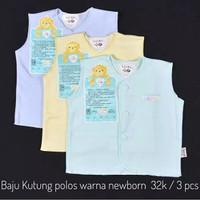 3 pcs baju kutung new born polos warna libby baby