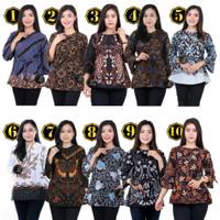 Blouse Batik Murah / Atasan Batik Wanita / Seragam blus M L XL XXL