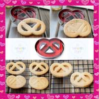 Cetakan Kue Kering Pretzel Butter Cookies / Cetakan Model Regal