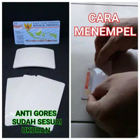 Stiker Antigores Kartu KTP SIM BJPS Laminating dengan Lem