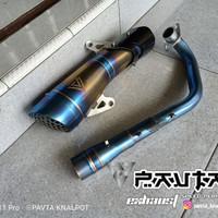 Knalpot Racing Original Pavta For ADV150 Fullsystem Header Blue