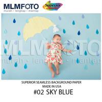 02 Sky Blue Superior Seamless Background Paper Latar Layar 2.72 x 11 M
