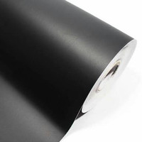 stiker hitam doff/stiker hitam solid/stiker motor - Hitam