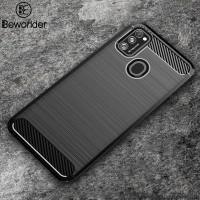 Case Samsung Galaxy M21 M 21 SoftCase Carbon Slim Cover Soft Casing