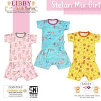 Pakaian Setelan Baju Bayi Libby lengan Pendek Motif batik series