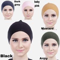 Ciput Inner Bandana Hijab Rajut Polos Tidak Panas Nyaman