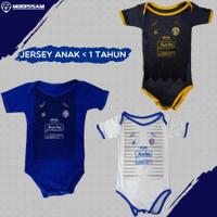 Baju jersey jumpsuit arema fc 2020 anak bayi dibawah 1 tahun mboissam