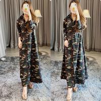 Baju Gamis Army/Maxi Dress Loreng/Glr 8540