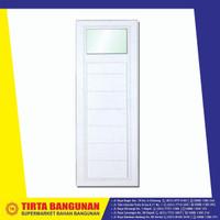 PINTU UPVC/ PINTU KAMAR MANDI SPLUS SD1/F1 PUTIH 70X195CM