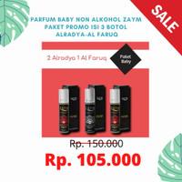 Parfum Baby Non Alkohol ZAYM Paket Promo isi 3 Botol Alradya-Al Faruq