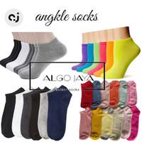 (6 pasang) kaos kaki pendek dewasa(mk) warna polos(unisex)