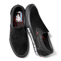 Vans Slip On Pro Baker Black Black Red
