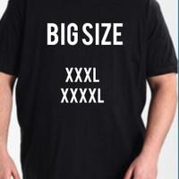 Kaos Polos/Atasan Pria/ T shirt Big size 3L dan 4L