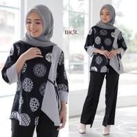 blus batik kerja fashion Wanita