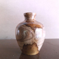 kayu jsti bubut vas bunga dan tempat lilin
