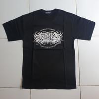 T-shirt Kaos Metal Gothic (Font) Massa Hitam Sawangan