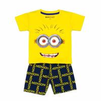 SETELAN ANAK Minion 1 - 7 Tahun MAXKENZO Setelan Baju Anak