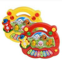 Mainan anak animal farm piano - Tanpa batre AA