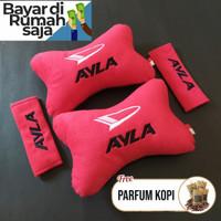 bantal sandaran jok mobil merah Daihatsu AYLA Premium Empuk Bestseller