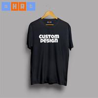 Tshirt kaos baju tees costum polyflex hitam 1 Bagian