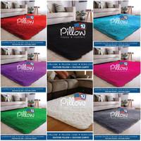 PROMO [2PCS 3KG] Karpet Bulu Pillow Original uk 160x100cm tebal 5,5cm