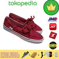 Sepatu Vans Premium / Vans Red Zapato Royale / Sepatu Kuliah Casual