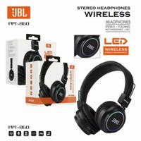 Headset Headphone Bando JBL PPT 860 With Lampu LED JBL Bluetooth Kabel