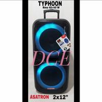 Speaker Portable Meeting Wireless ASATRON TYPHOON 2x12inch