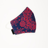 Masker Paisley Bandana Reversible Glow in The Dark Red