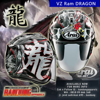 Helm Arai Half Face VZ Ram Dragon original Japan Arai SNI VZ ram