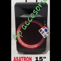 Speaker Bluetooth Portable 15inch Asatron HOLLYWOOD 8881 karaoke senam