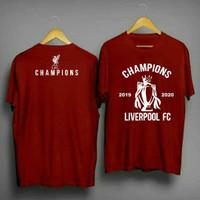 kaos t-shirt baju Liverpool / kaos liverpool Champions / kaos the reds