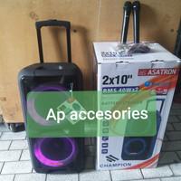 speaker bluetooth Asatron Champion 2x10 pengganti 8872meeting portable