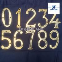 Angka Huruf untuk Alamat Rumah Warna Gold (Huruf A-Z)(Angka 0-9)