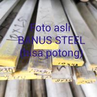 Strip stainless 304 tebal 3 mm x 30 mm x 1 meter plat strip stainless