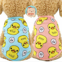 baju kaos bebek fashion pakaian anjing kucing murah.dog cat cloth duck