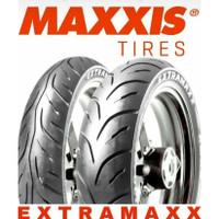 Paket Ban Luar Maxxis 100/80-17 & 120/70-17 Extramaxx Tubeless +Pentil