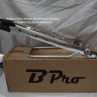 Arm BPro Ninja 150 RR Drag Lobang Stabilisher SILVER