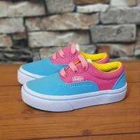 Sepatu Anak keren model dewasa pink biru, Vans era rainbow