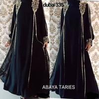 abaya gamis hitam dubai 355 TARIEZ