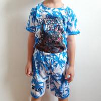 Baju setelan kaos dan celana the barong bali ukuran M anak 4 - 5 thn