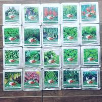 benih hidroponik / bibit pakcoy / cabai / sawi / daun bawang / seledri